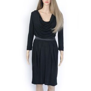 NWT. Mango Black Dress Long Sleeve